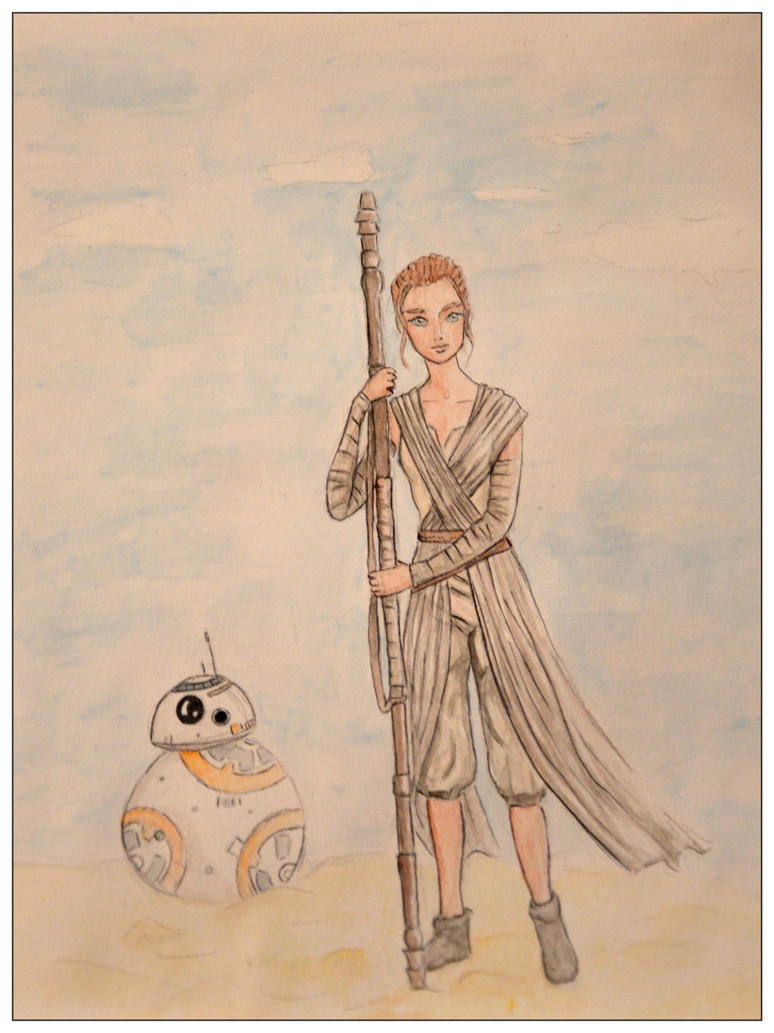 Rey and BB8 by mliddam