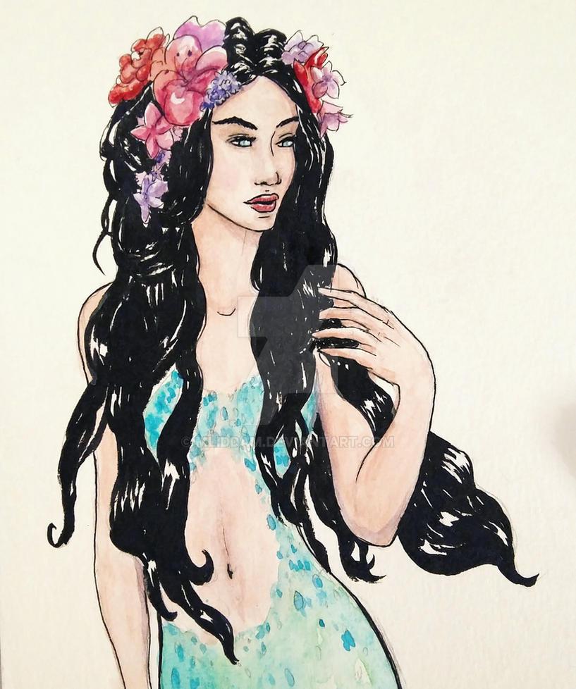 Mermaid day 13 by mliddam