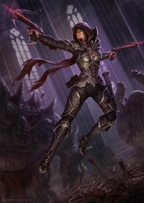 Diablo 3 - Demon Hunter by DeivCalviz