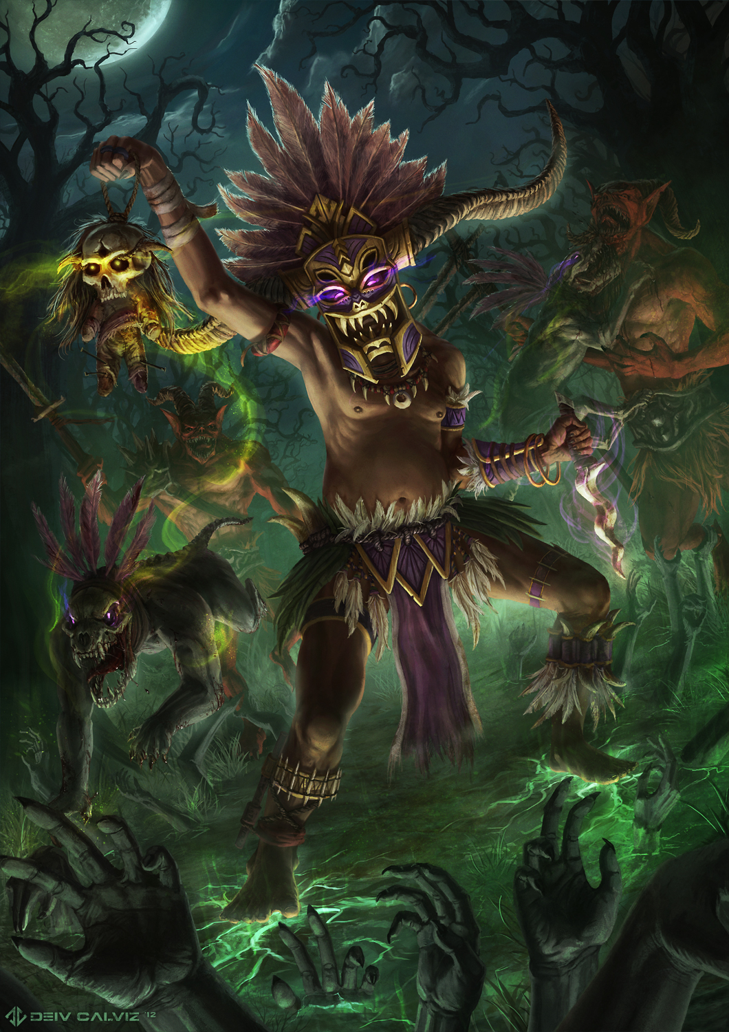 Diablo 3 - Witch Doctor by DeivCalviz