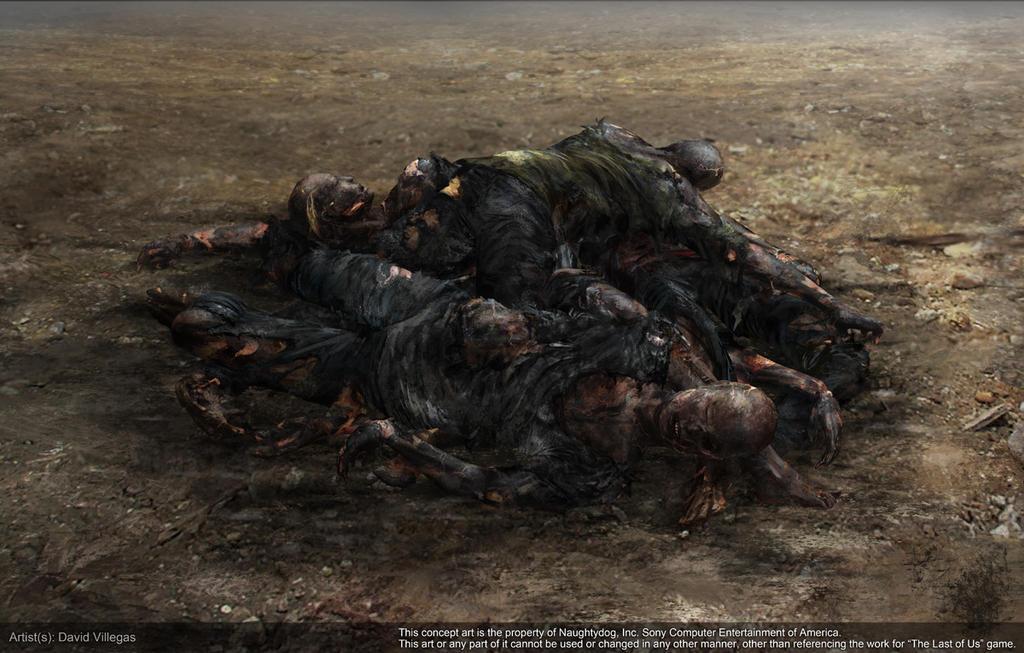 The Last of Us - Concept of Burnt Dead Bodies by DeivCalviz