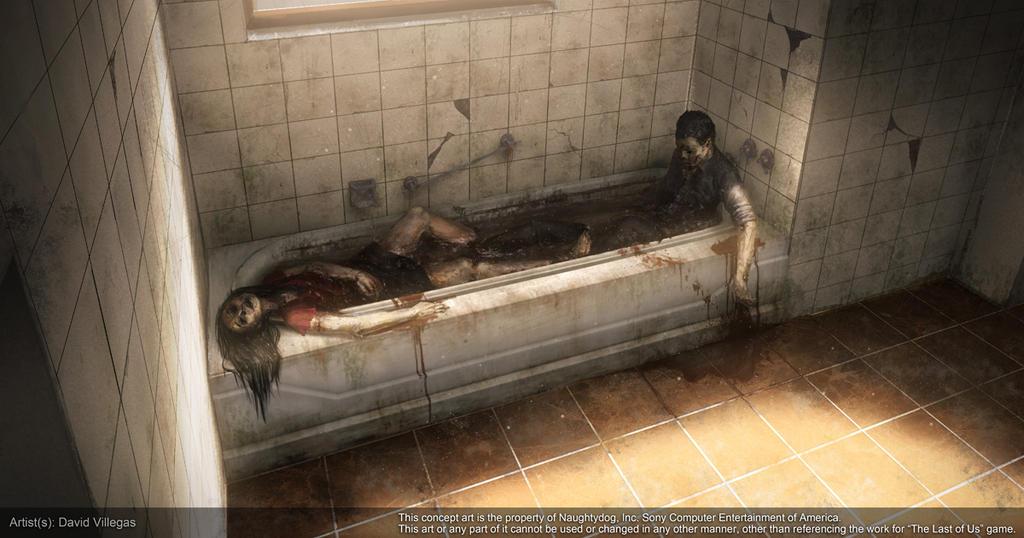 The Last of Us - Concept of Bathtub Suicide by DeivCalviz