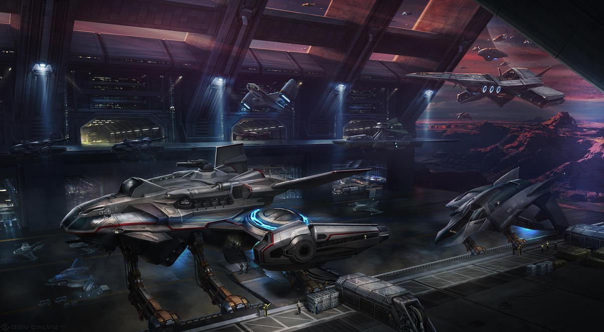 Spaceship Port by DeivCalviz