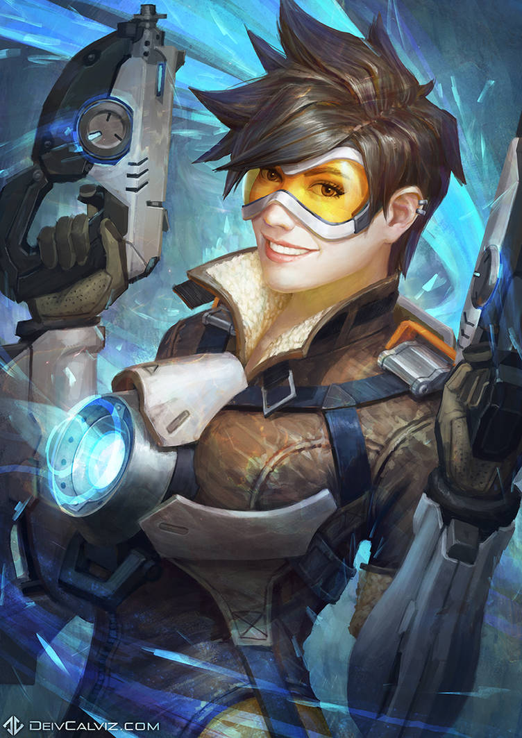 Tracer - Overwatch Fan Art by DeivCalviz