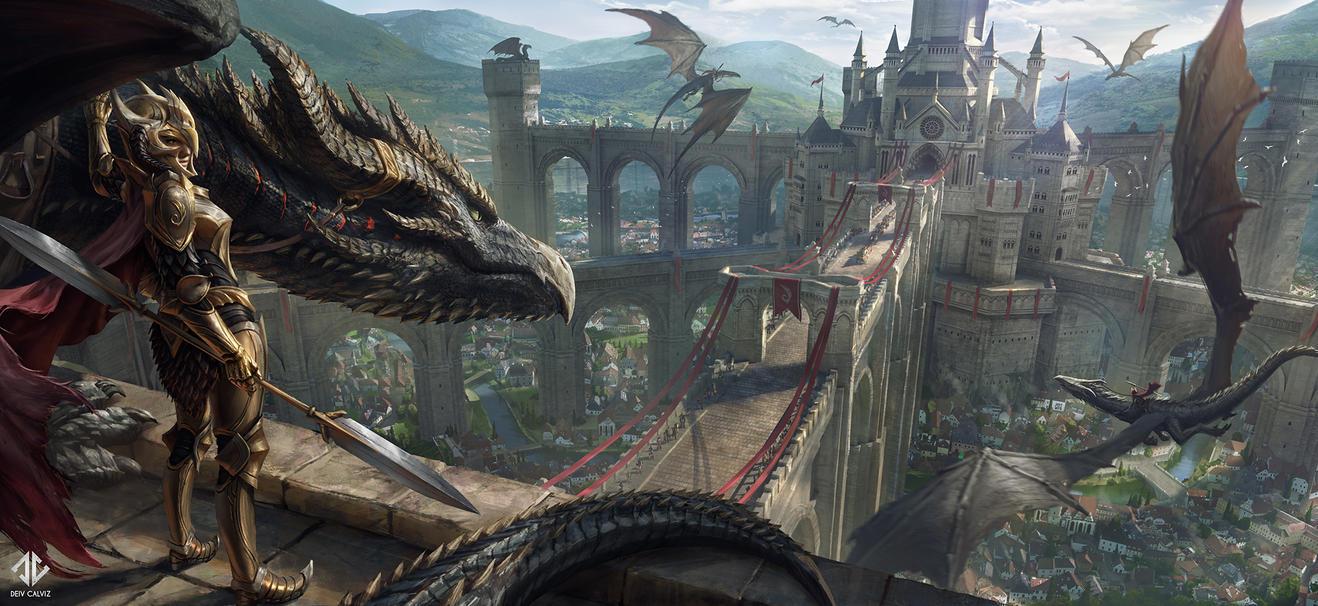 Dragon Watchers by DeivCalviz