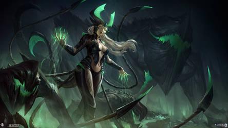 Akantha - Goddess of the Underworld Illustration
