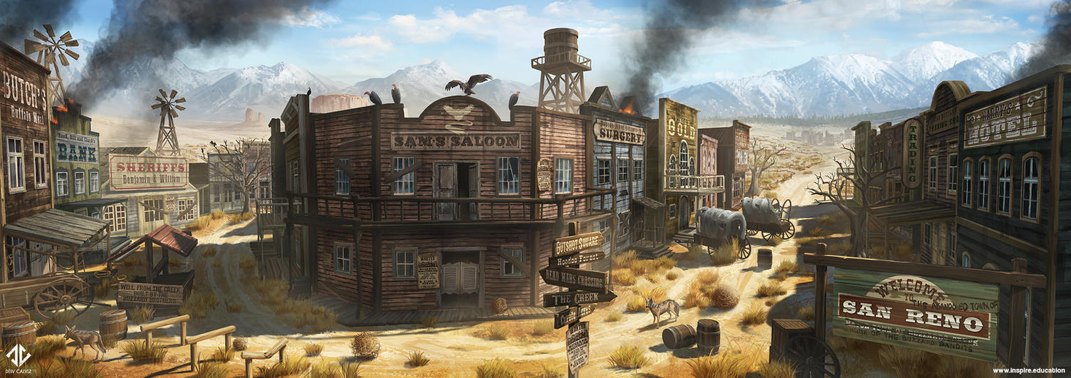 The Abandoned Town of San Reno by DeivCalviz