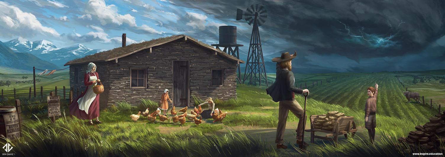 The Homesteaders by DeivCalviz