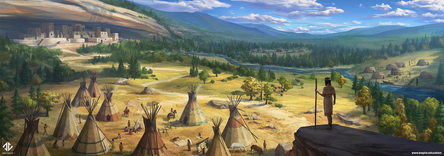 Native Americans by DeivCalviz