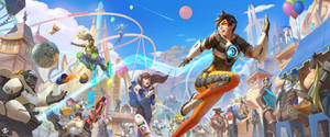 Overwatch Fan Art - Blizzard World by DeivCalviz