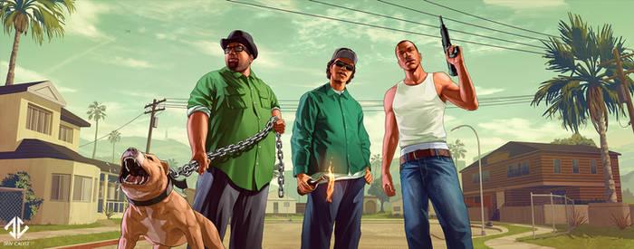 Fan Art - Grand Theft Auto San Andreas Splash
