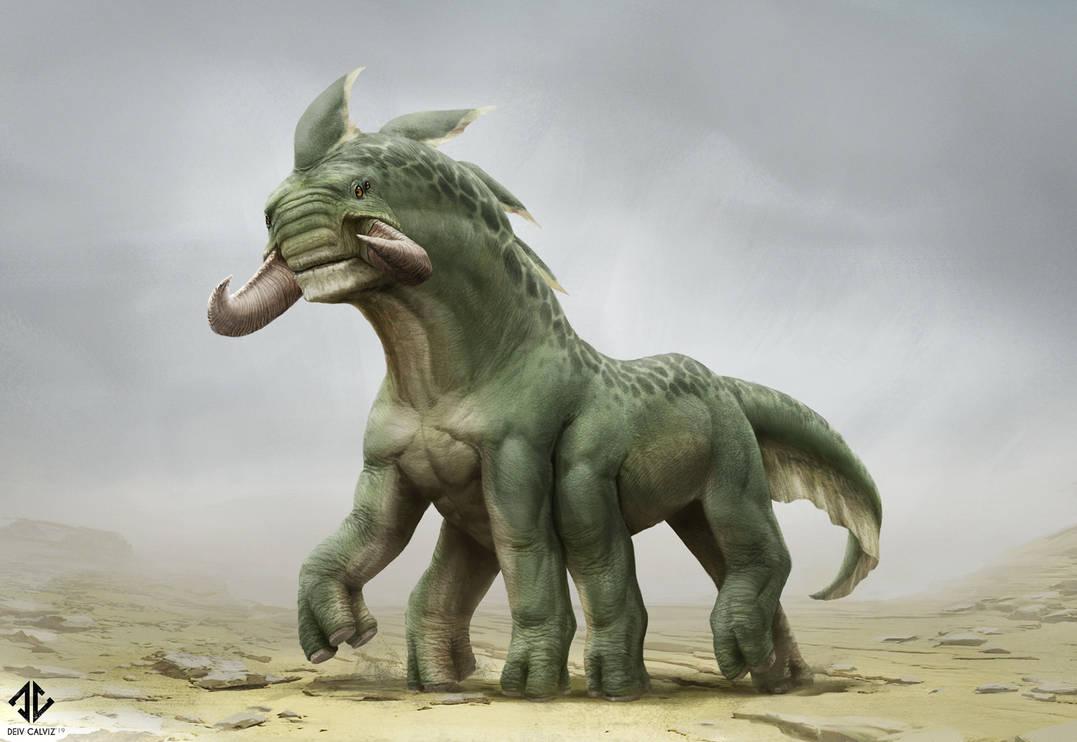 Creature Design - Mammal Alien Thing by DeivCalviz