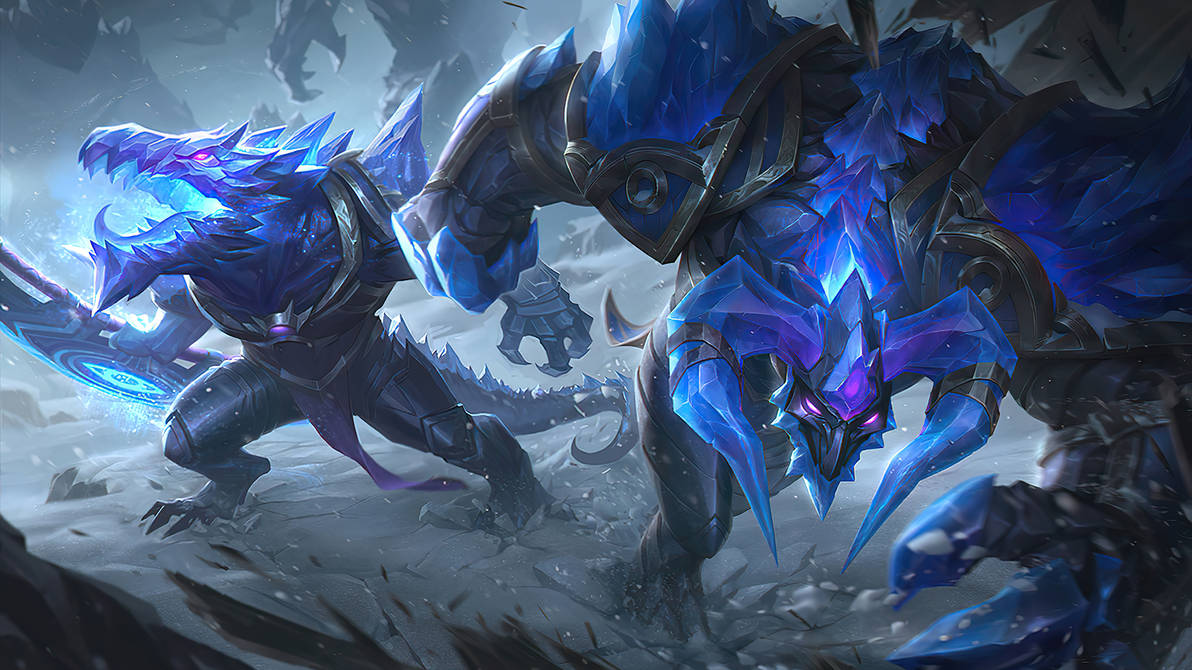 Blackfrost Duo - Alistar and Renekton Splash art