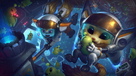 Astronaut - Gnar and Poppy - Splash art League of
