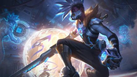 Pulsefire Ekko - Splash Art League of Legends