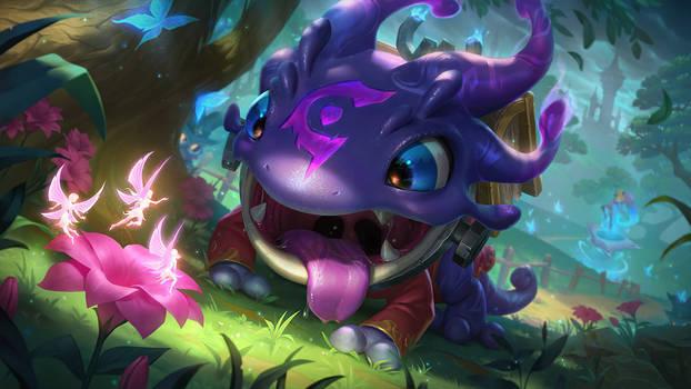 Arcanist Kog'Maw - Splash Art League of Legends