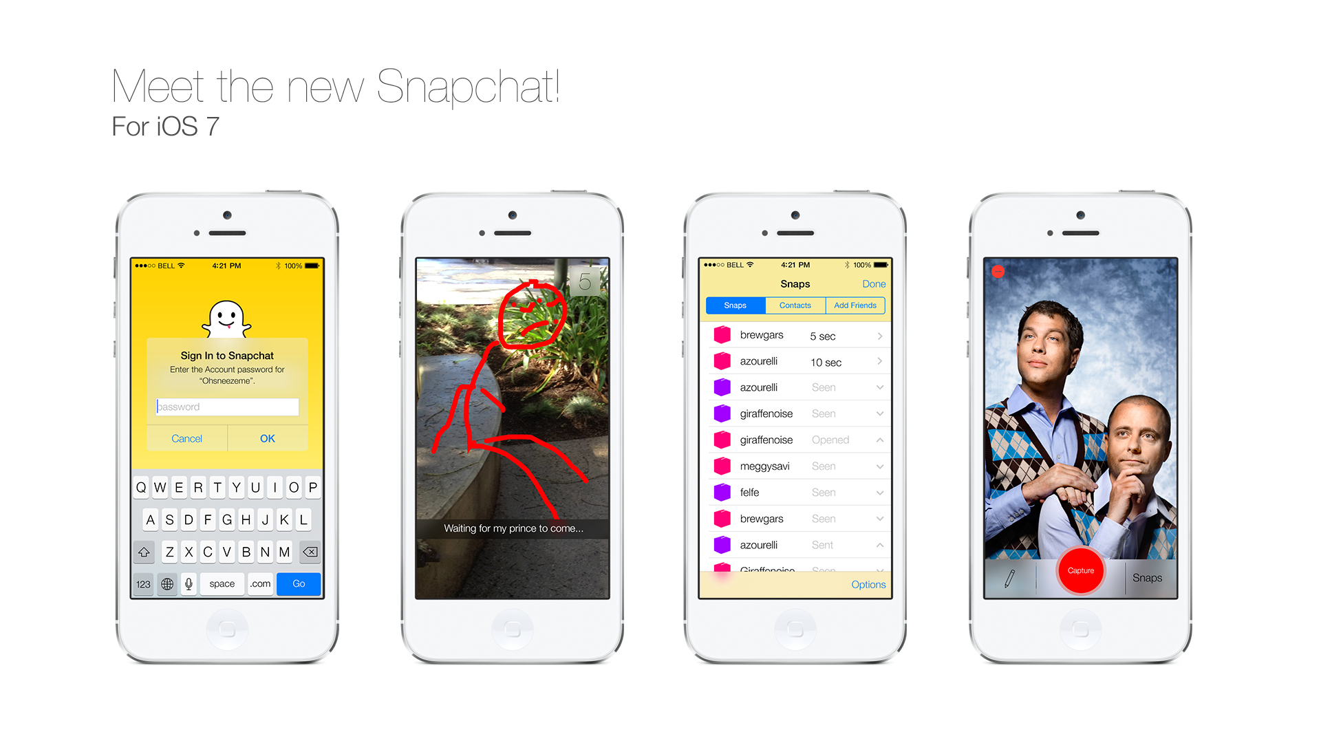 Download Snapchat Ios 7  logo snap coeur rouge