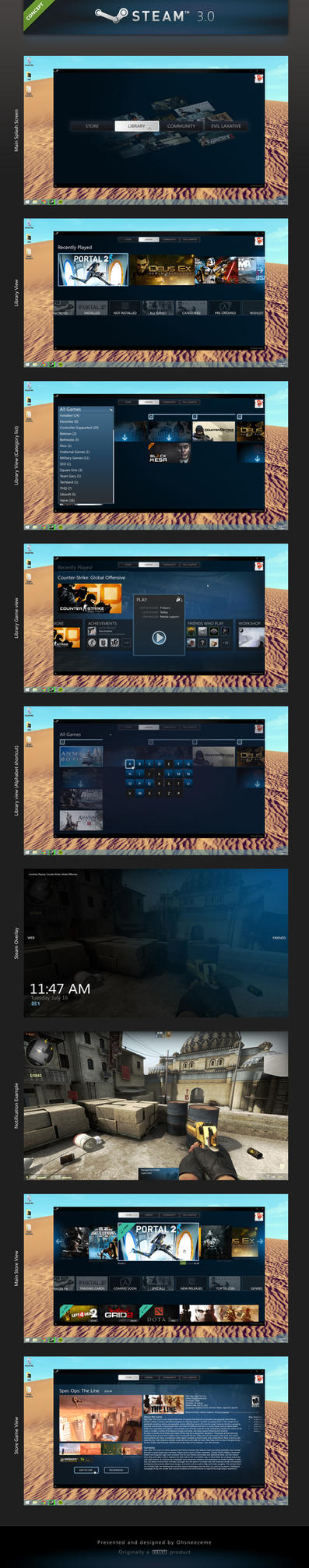 Steam 3.0 (Concept) by Ohsneezeme