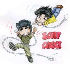 Akki and Saifu by jubaka