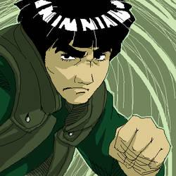 Maito Gai. Fight