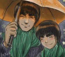 Gai-Lee. Orange Umbrella by jubaka