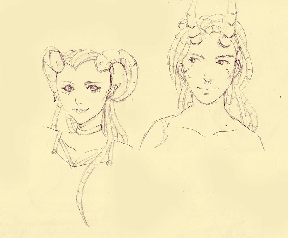 Paradami and Varron by exucomic