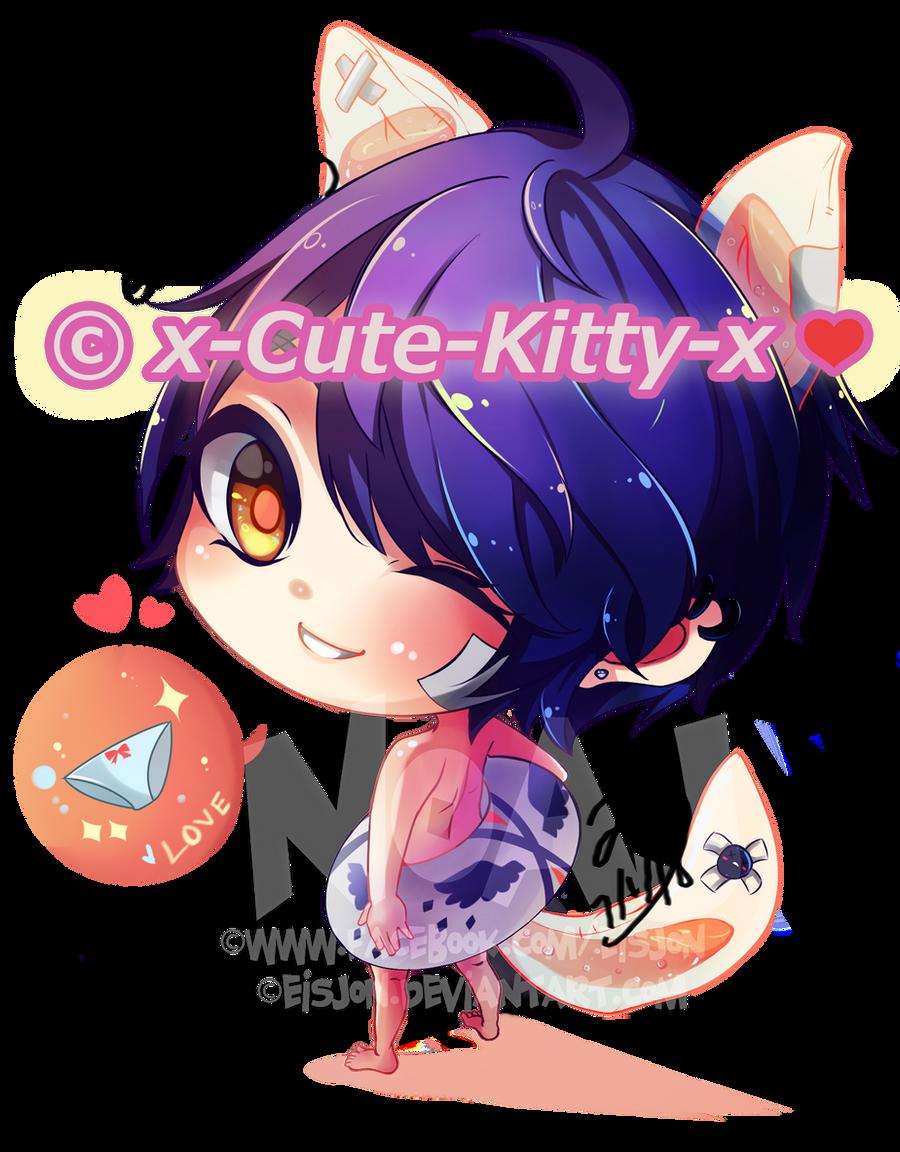 Commission :x-Cute-Kitty-x (Blue) by eisjon