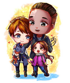 Family Kara Alice and Luther