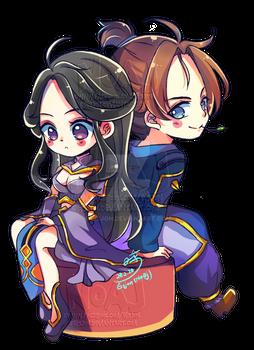 Honor of Kings -Chibi  Luna and Sun wukong