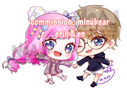 Commission  :minubear en and erin