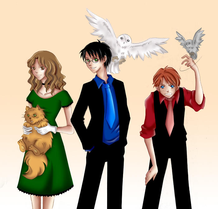 Harry Potter Trio by vari on DeviantArt