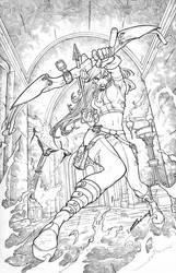 Robyn Hood Legend #4 pencil version by alucard3999