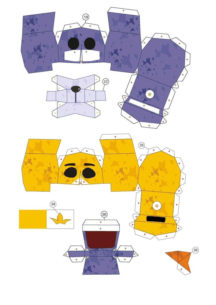 Как сделать маску бонни из 5 ночей с фредди из бумаги