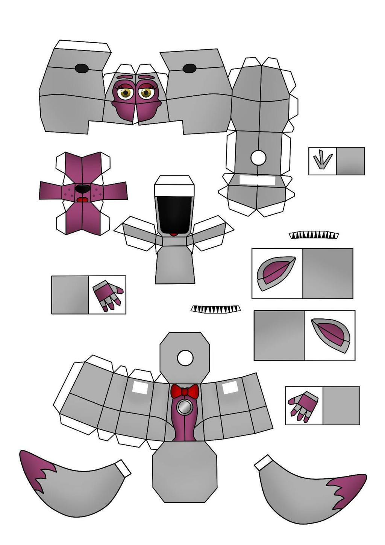 Как из бумаги сделать маску фокси из бумаги