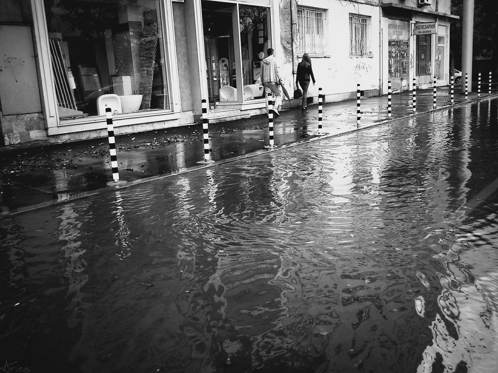 Rain black and white by AriesWildChild