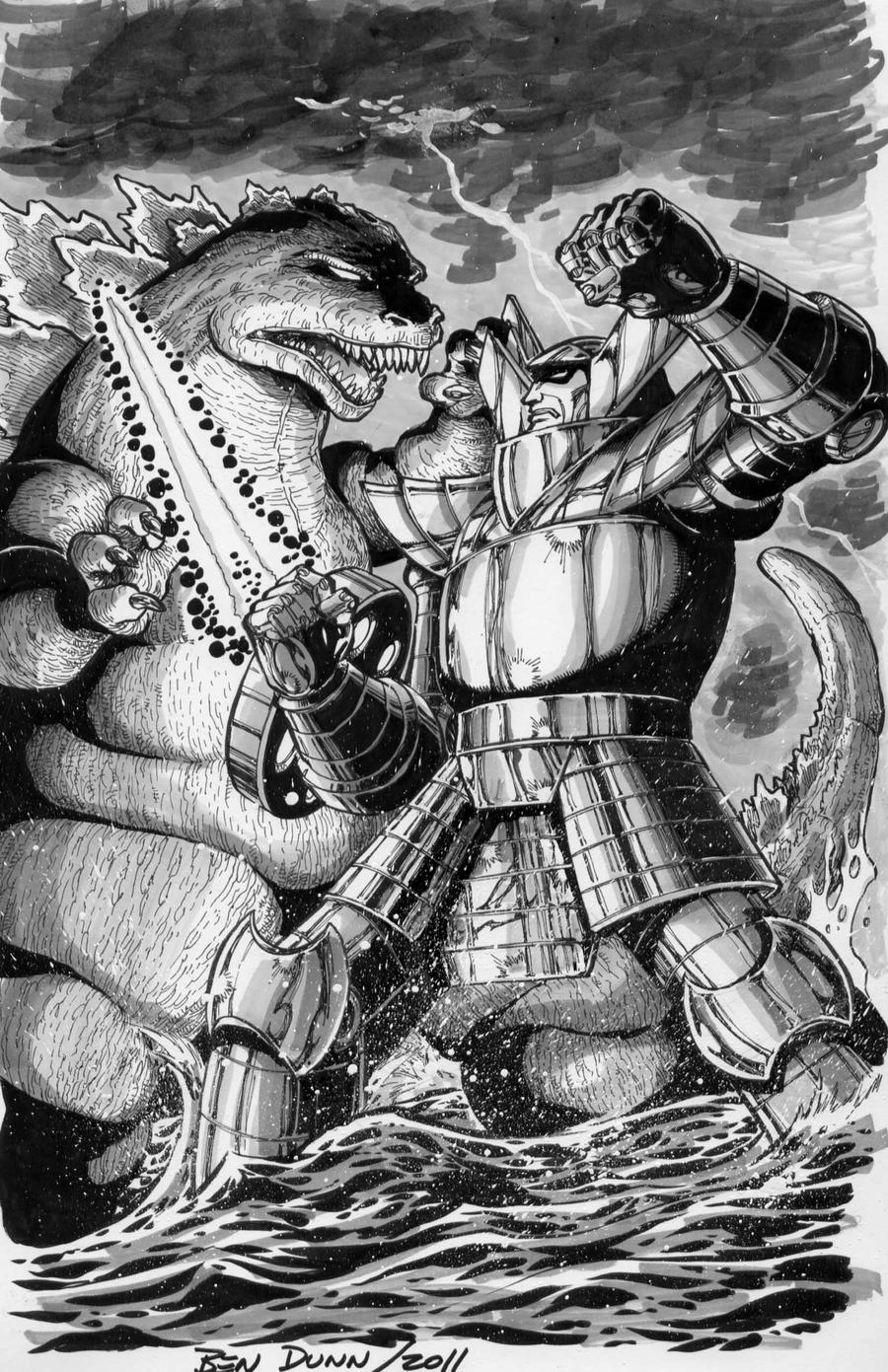 Godzilla vs Red Ronin Commish by Dogsupreme