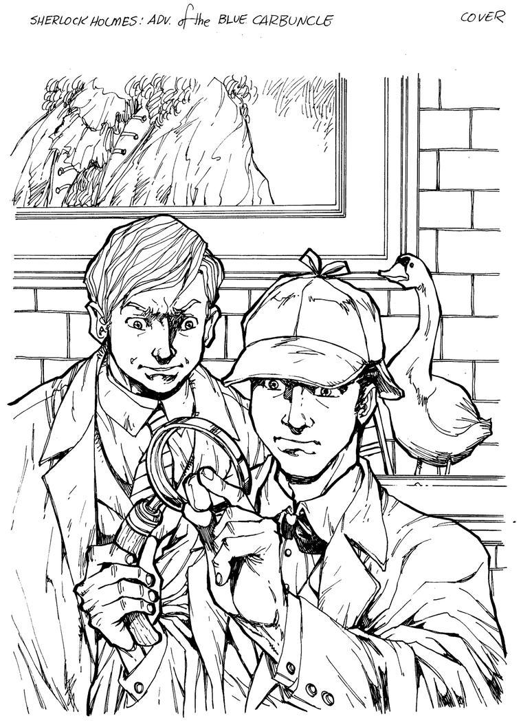 Sherlock Holmes Blue Carbuncle by Dogsupreme