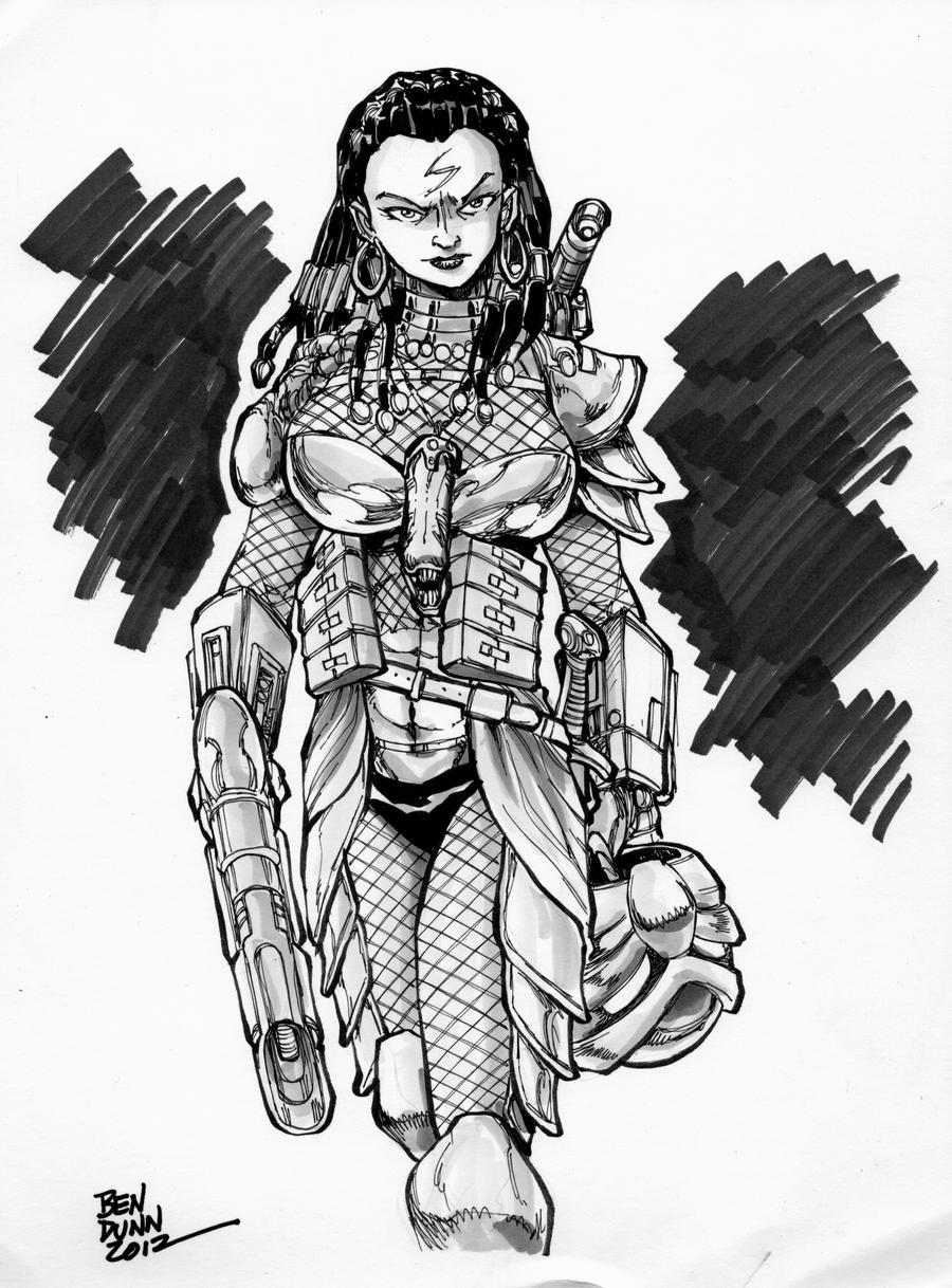 Female Human Predator by Dogsupreme