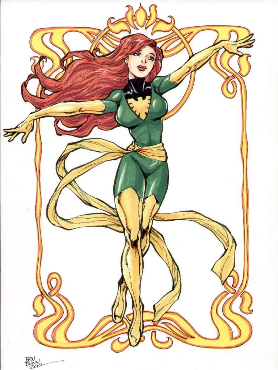 Phoenix X-Men color commission by Dogsupreme
