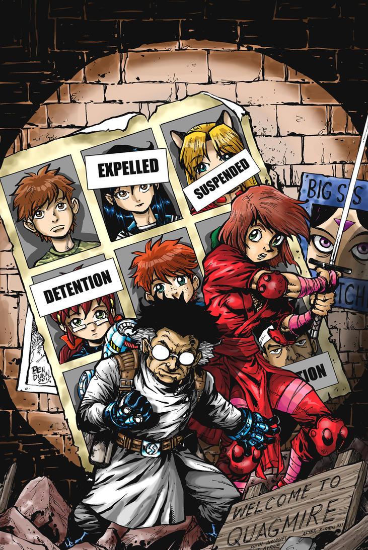 NINJA HIGH SCHOOL 176 Kickstarter variant cover by Dogsupreme