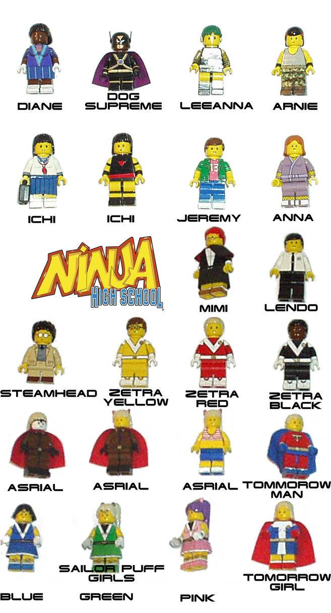Lego NINJA HIGH SCHOOL by Dogsupreme