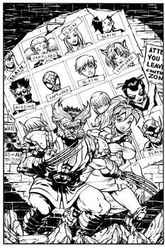 Marvel Mangaverse X-Men 141 Homage