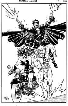Thrilling comics trio