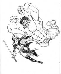 Warrior Nun vs Hulk