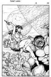 Planet Comics cover for Antarctic Press