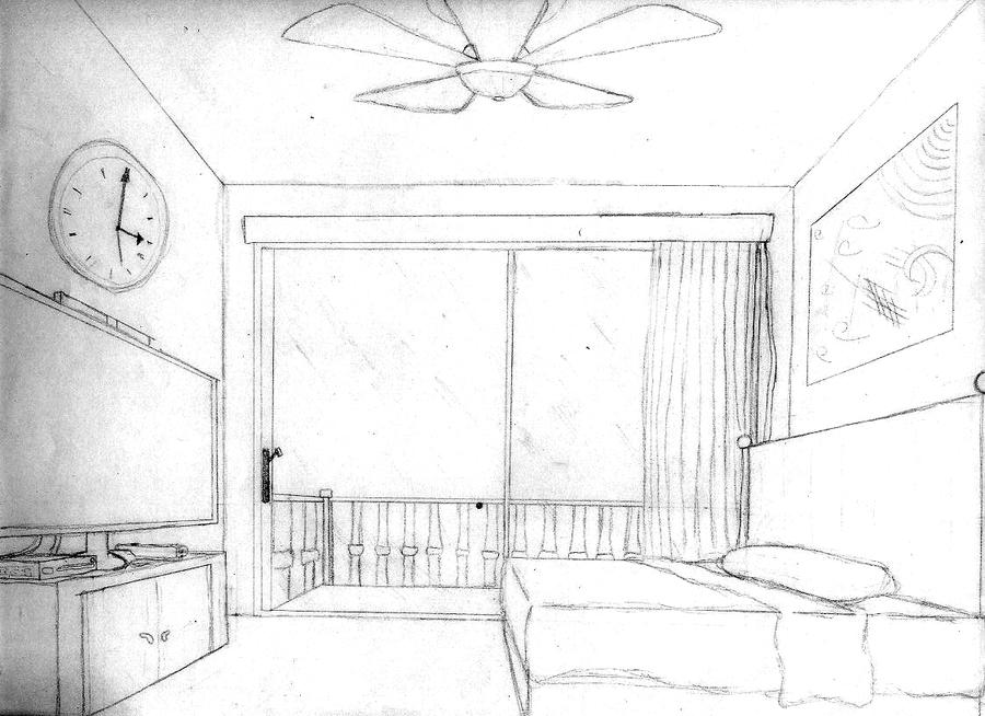bedroom drawing one point perspective 1 pt perspective bedroom by