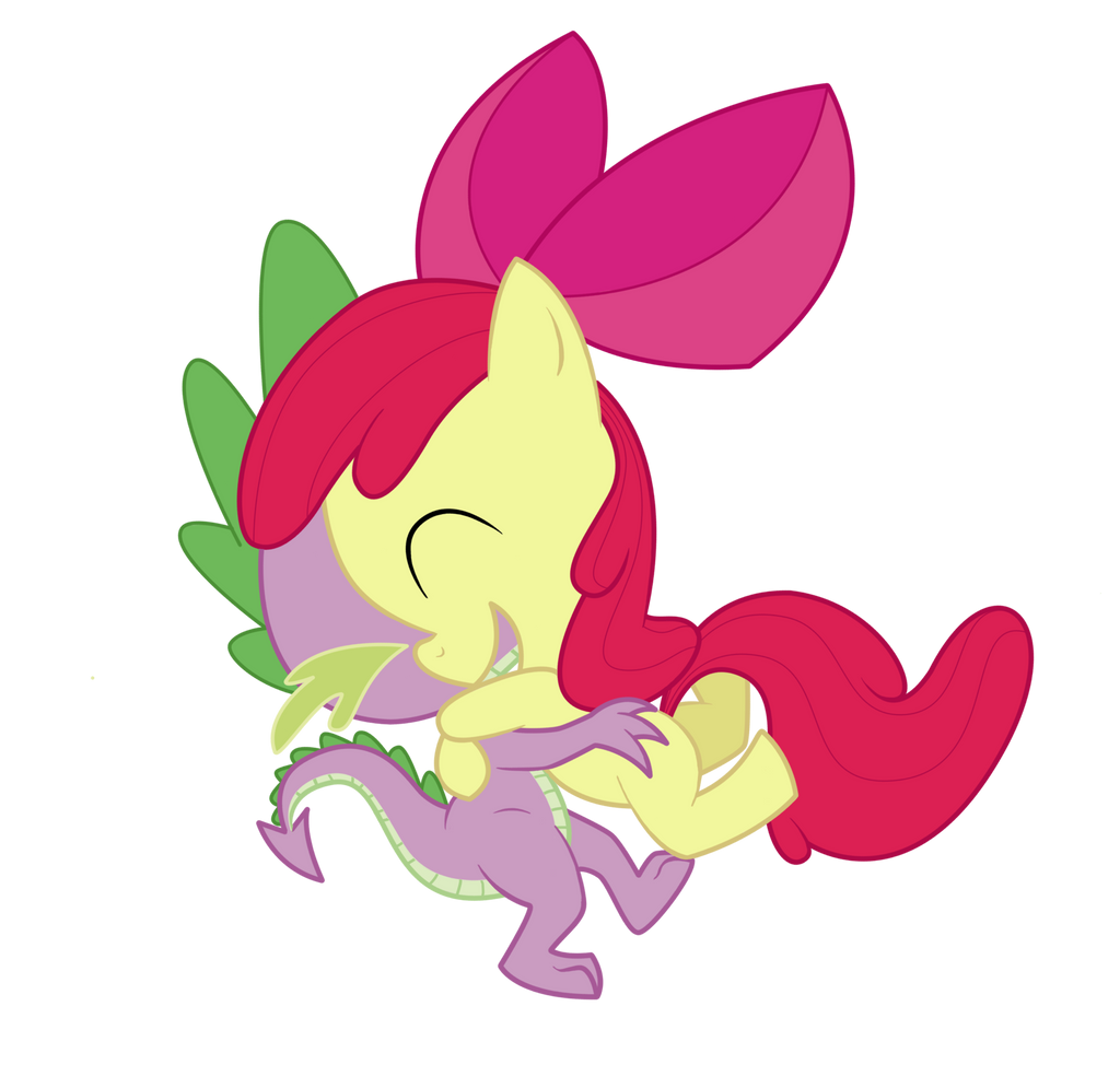 Spike and Applebloom by Loreto-Arts