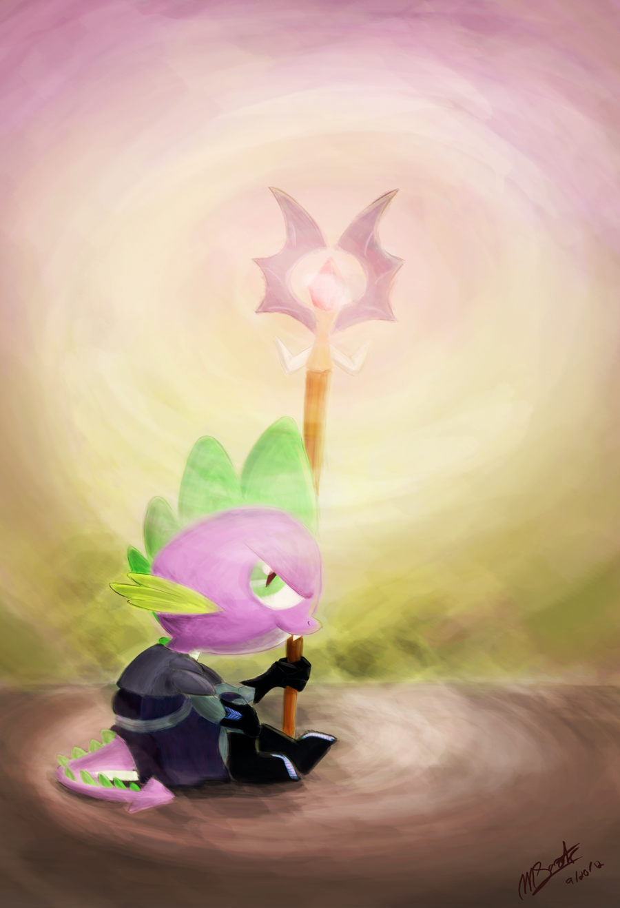 Spike the Mage by Loreto-Arts