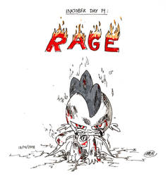 Inktober 2018: Day 14 - Rage by Loreto-Arts