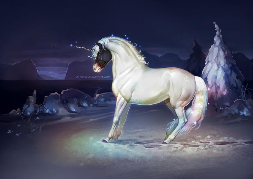 Pearl unicorn by Daenzar